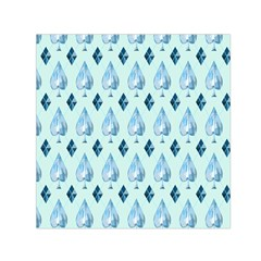 Ace Hibiscus Blue Diamond Plaid Triangle Small Satin Scarf (square)