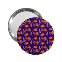 Witch Hat Pumpkin Candy Helloween Purple Orange 2 25  Handbag Mirrors