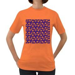 Witch Hat Pumpkin Candy Helloween Purple Orange Women s Dark T Shirt