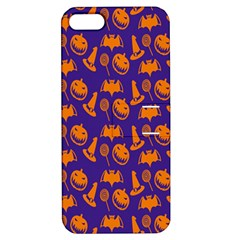 Witch Hat Pumpkin Candy Helloween Purple Orange Apple iPhone 5 Hardshell Case with Stand