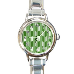Arrows Green Round Italian Charm Watch