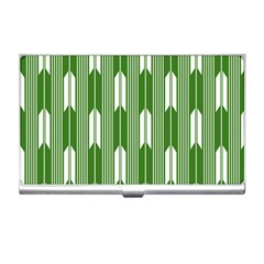 Arrows Green Business Card Holders