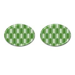 Arrows Green Cufflinks (oval)