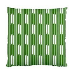 Arrows Green Standard Cushion Case (one Side)