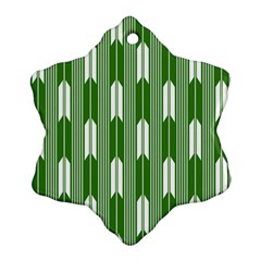 Arrows Green Snowflake Ornament (Two Sides)