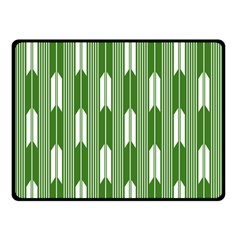 Arrows Green Double Sided Fleece Blanket (Small)