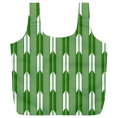 Arrows Green Full Print Recycle Bags (L)