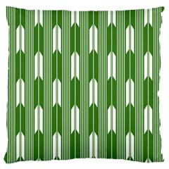 Arrows Green Large Flano Cushion Case (One Side)
