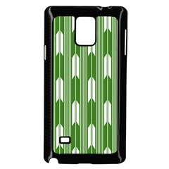 Arrows Green Samsung Galaxy Note 4 Case (Black)