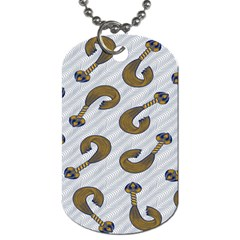 African Fabric Hair Wave Chevron Dog Tag (Two Sides)