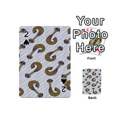 African Fabric Hair Wave Chevron Playing Cards 54 (Mini)