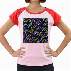 Arrows Purple Green Blue Women s Cap Sleeve T Shirt