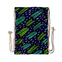 Arrows Purple Green Blue Drawstring Bag (Small)