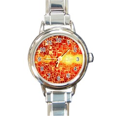 Board Conductors Circuit Round Italian Charm Watch