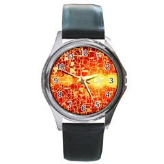 Board Conductors Circuit Round Metal Watch