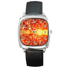 Board Conductors Circuit Square Metal Watch
