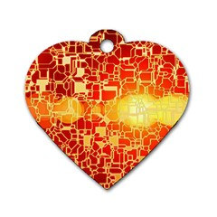 Board Conductors Circuit Dog Tag Heart (one Side)