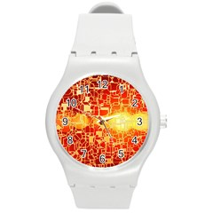 Board Conductors Circuit Round Plastic Sport Watch (m)