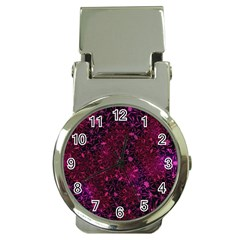 Retro Flower Pattern Design Batik Money Clip Watches