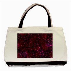 Retro Flower Pattern Design Batik Basic Tote Bag