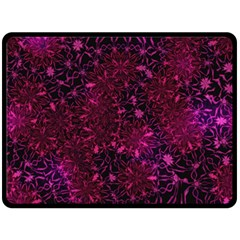 Retro Flower Pattern Design Batik Fleece Blanket (large)