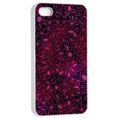 Retro Flower Pattern Design Batik Apple iPhone 4/4s Seamless Case (White)
