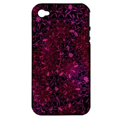 Retro Flower Pattern Design Batik Apple Iphone 4/4s Hardshell Case (pc+silicone)