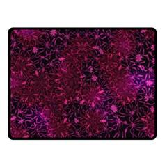 Retro Flower Pattern Design Batik Double Sided Fleece Blanket (small)