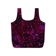 Retro Flower Pattern Design Batik Full Print Recycle Bags (s)