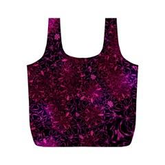 Retro Flower Pattern Design Batik Full Print Recycle Bags (M)