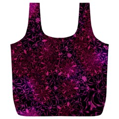 Retro Flower Pattern Design Batik Full Print Recycle Bags (L)