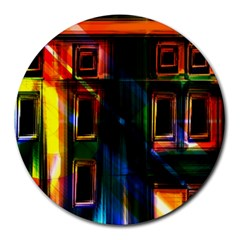 Architecture City Homes Window Round Mousepads
