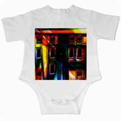 Architecture City Homes Window Infant Creepers