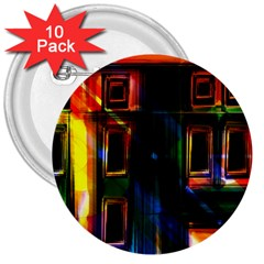 Architecture City Homes Window 3  Buttons (10 Pack)