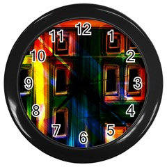 Architecture City Homes Window Wall Clocks (black)