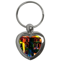 Architecture City Homes Window Key Chains (heart)