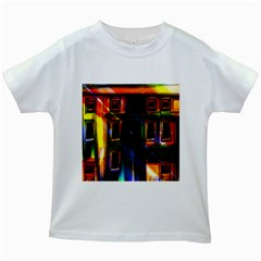 Architecture City Homes Window Kids White T Shirts