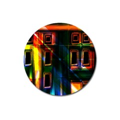 Architecture City Homes Window Magnet 3  (round)