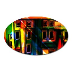 Architecture City Homes Window Oval Magnet