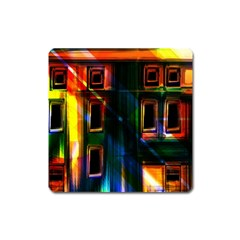 Architecture City Homes Window Square Magnet