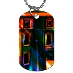 Architecture City Homes Window Dog Tag (one Side)
