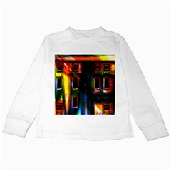 Architecture City Homes Window Kids Long Sleeve T-Shirts