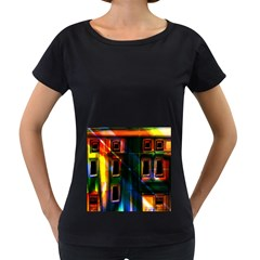 Architecture City Homes Window Women s Loose Fit T Shirt (black)