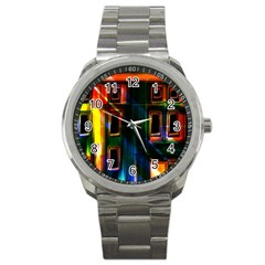 Architecture City Homes Window Sport Metal Watch