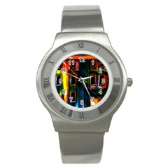 Architecture City Homes Window Stainless Steel Watch