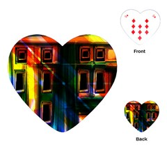 Architecture City Homes Window Playing Cards (Heart)
