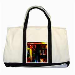 Architecture City Homes Window Two Tone Tote Bag