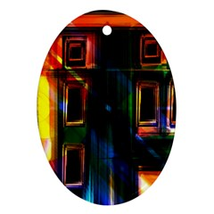 Architecture City Homes Window Oval Ornament (Two Sides)