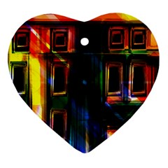 Architecture City Homes Window Heart Ornament (two Sides)