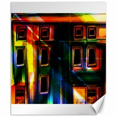 Architecture City Homes Window Canvas 8  X 10